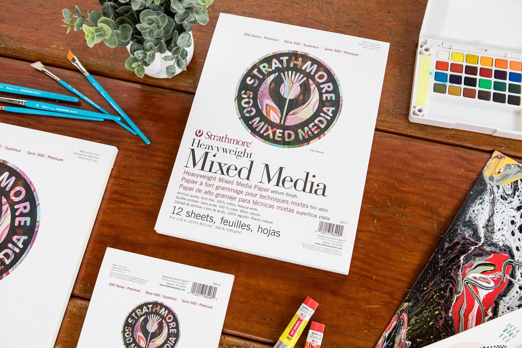 Strathmore heavy mixed media paper -- studio essentials