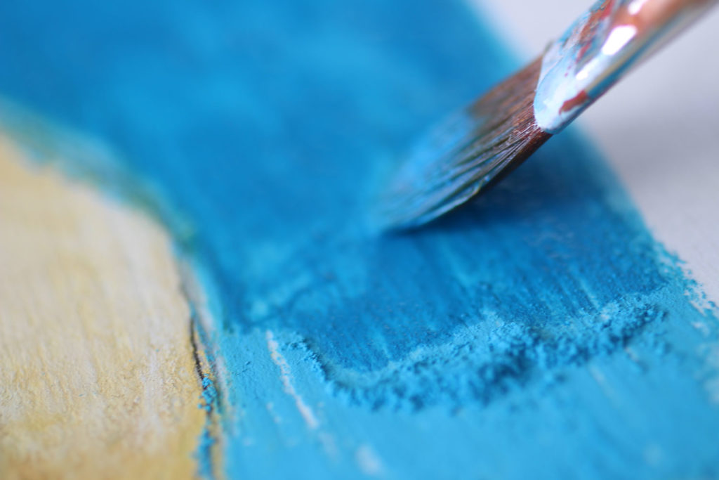 mixed media art supplies: dry pastels