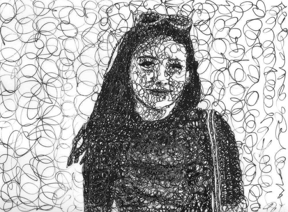 scribble art daughter 14