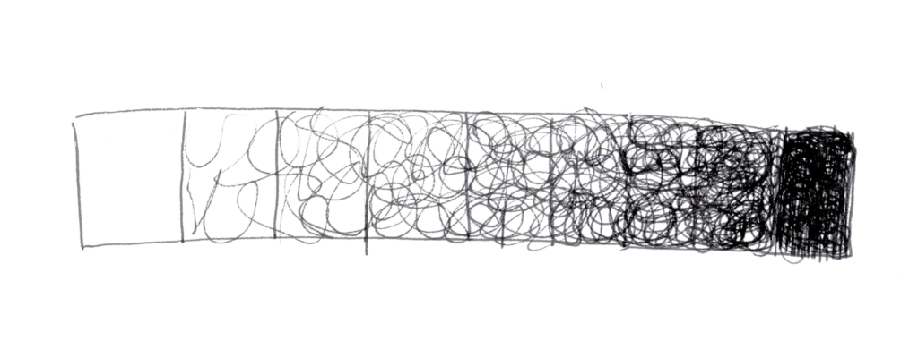 scribble art: You can train your hand by making a scribbling tonal scale