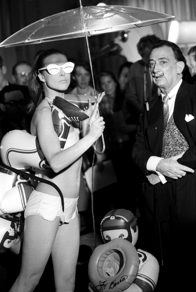 Dalí created an unconventional swimsuit collection that designer Jack Winter presented in the spring of 1965, in Paris. Botti / Stills / Gamma Keystone / Getty Images