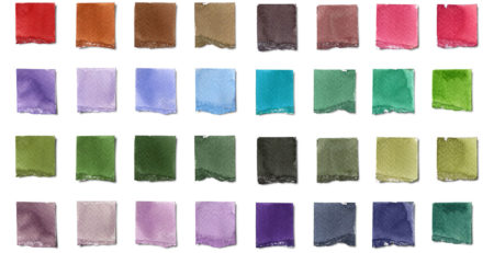 Color wheel swatches for testing colors as a painter