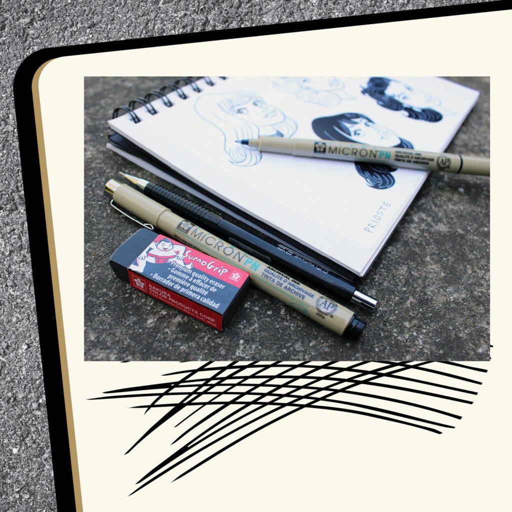 sketching supplies sakura