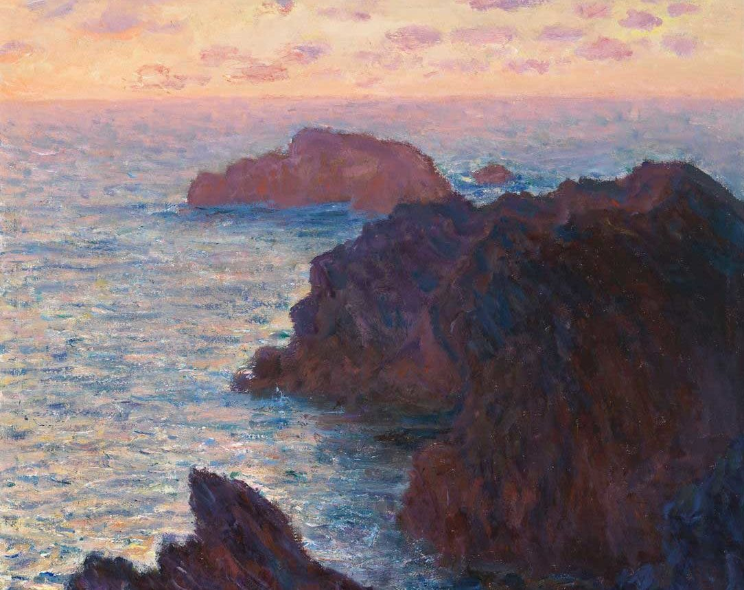 Claude Monet, Rocks at Belle-Ile, Port-Domois, 1886