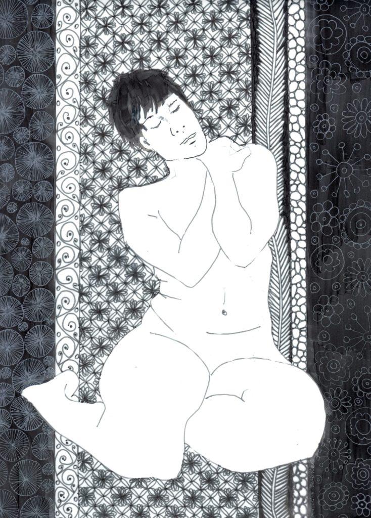 doodling sandrine pelissier | elevated doodle art figure drawing
