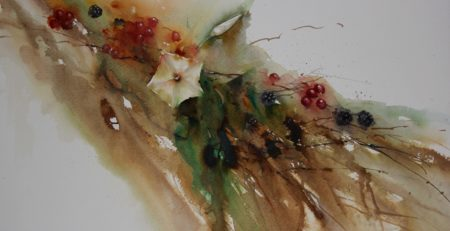 Autumn Flow by Jean Haines, watercolor
