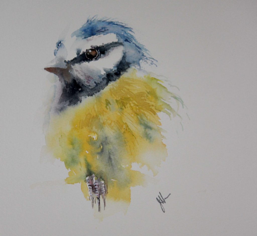 Cheeky by Jean Haines, watercolor