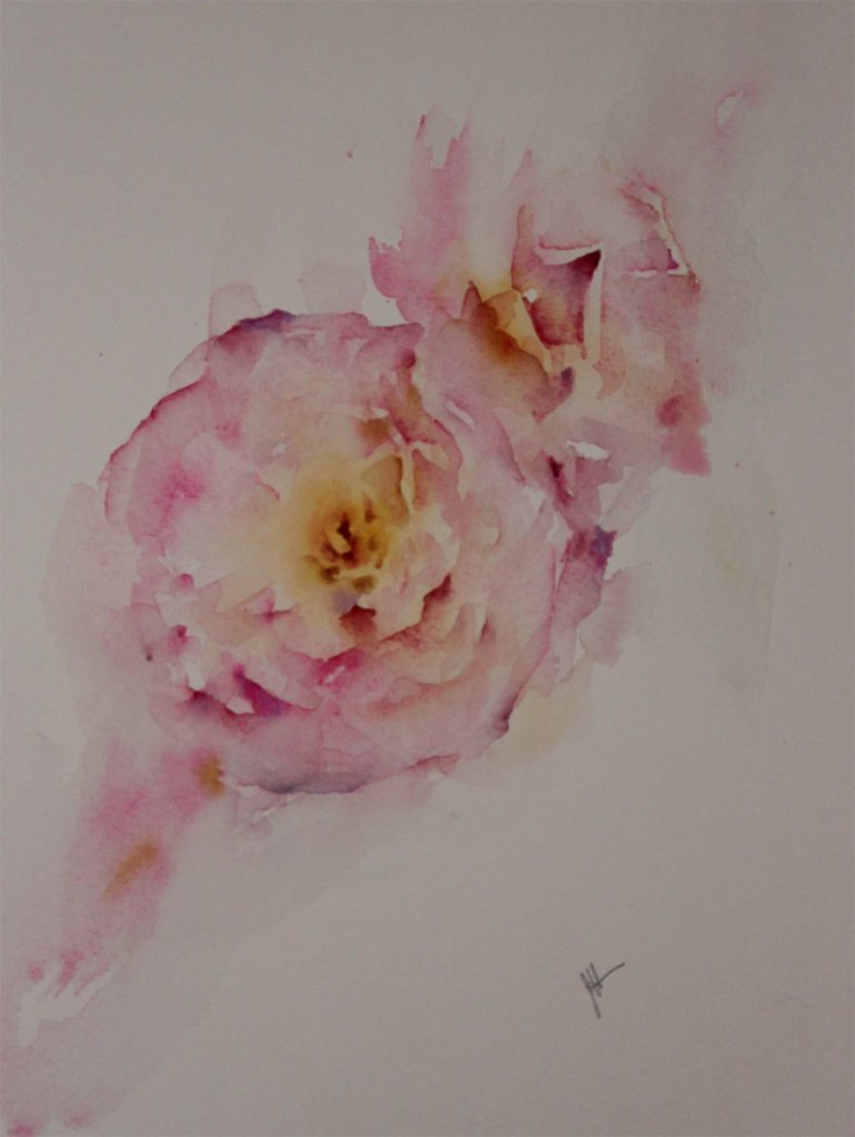 Less Is More by Jean Haines, watercolor