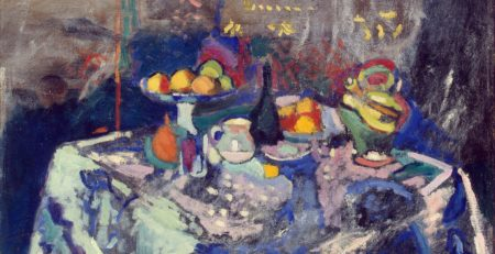 Vase, Bottle and Fruit by Henri Matisse, 1906