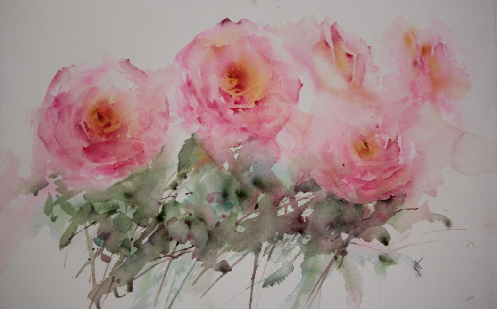 Mindfulness by Jean Haines, watercolor