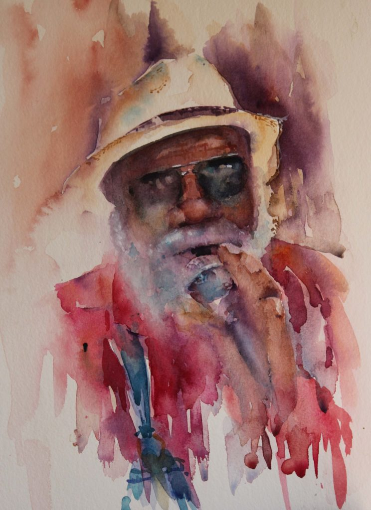 New Orleans by Jean Haines, watercolor