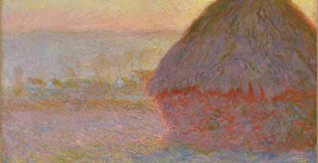 Grainstack (Sunset) by Claude Monet