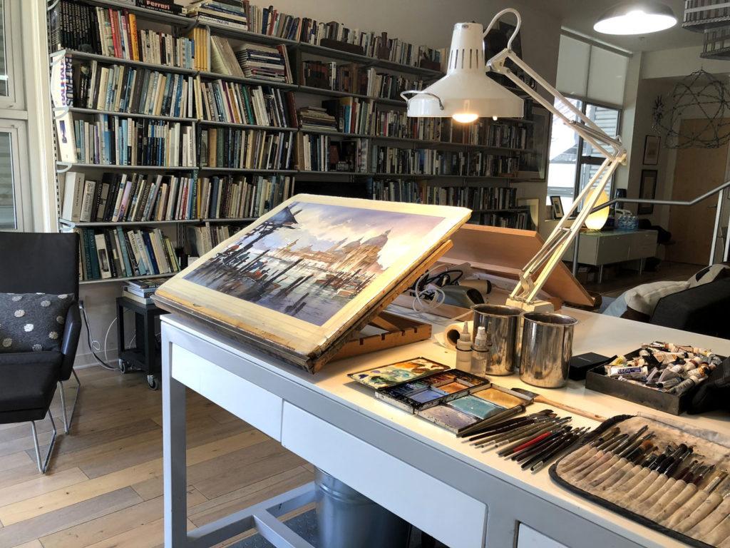 Thomas Schaller's studio