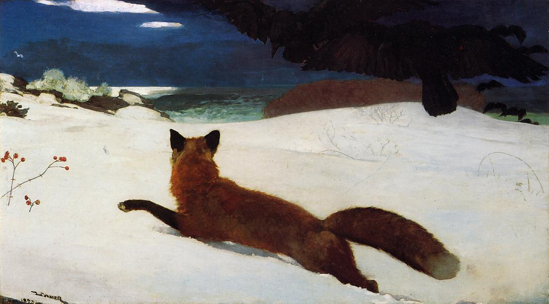 snow paintings_Fox_Hunt_1893_Winslow_Homer