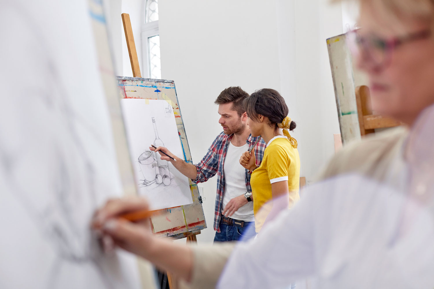 Getting access to feedback is crucial for getting the most out of art courses.