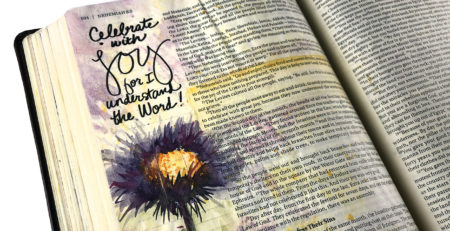 bible journaling art from sandy allnock