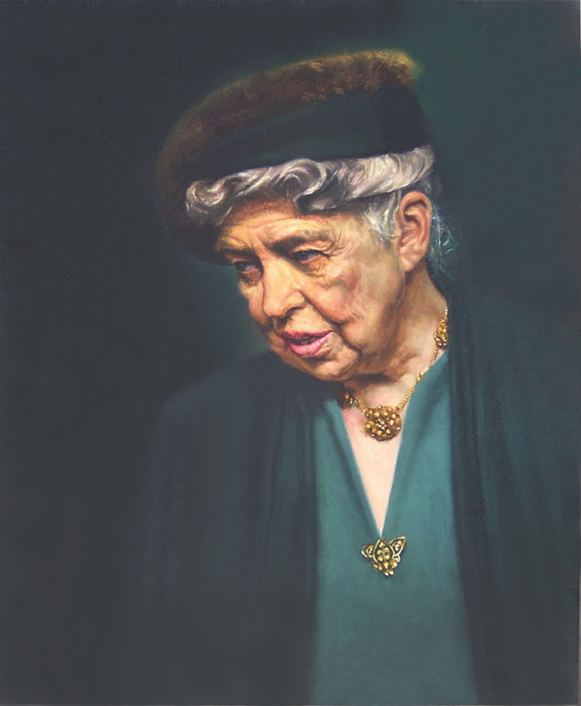 Mrs. Eleanor Roosevelt by Daniel E. Greene | Oil Painting | Portraiture | Portraits | Artists Network