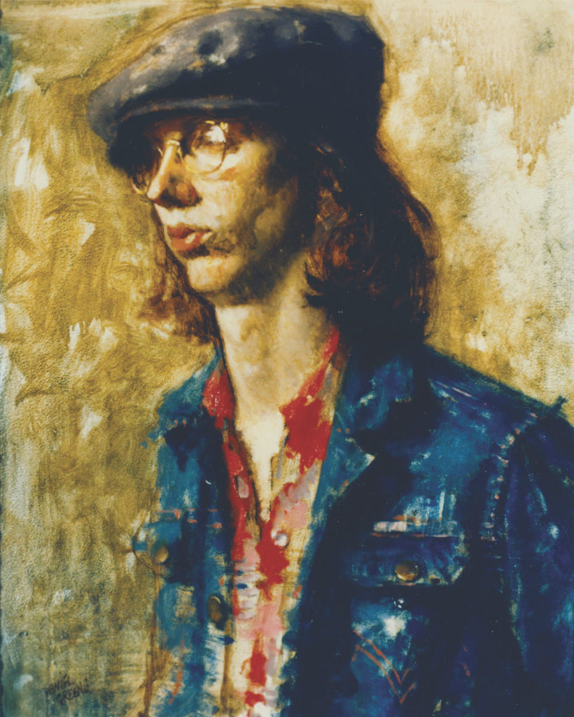 Mark with Cap by Daniel Greene | Oil Painting | Portraiture | Portraits | Artists Network